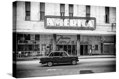 Cuba Fuerte Collection B&W - Teatro America - Havana-Philippe Hugonnard-Stretched Canvas Print