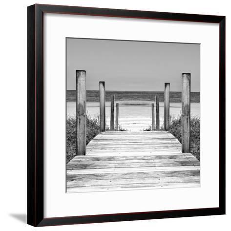 Cuba Fuerte Collection SQ II - Boardwalk on the Beach-Philippe Hugonnard-Framed Art Print