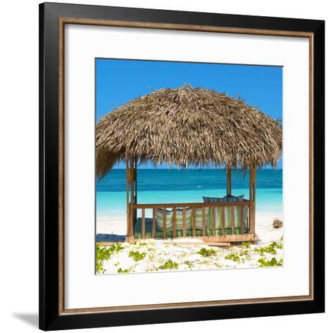 Cuba Fuerte Collection SQ - Beach Hut-Philippe Hugonnard-Framed Art Print