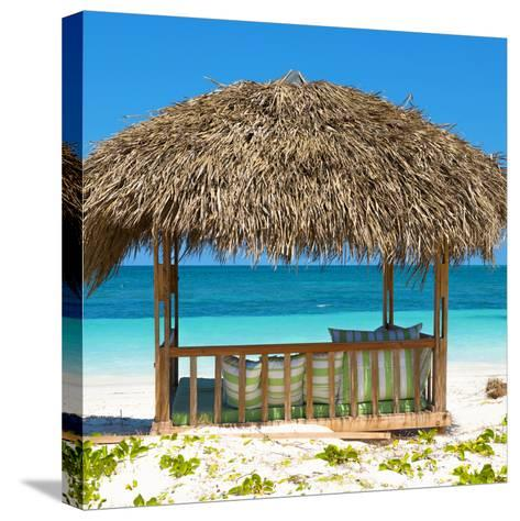 Cuba Fuerte Collection SQ - Beach Hut-Philippe Hugonnard-Stretched Canvas Print