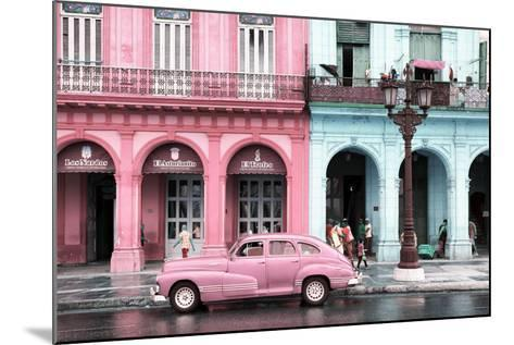 Cuba Fuerte Collection - Colorful Architecture and Pink Classic Car-Philippe Hugonnard-Mounted Photographic Print