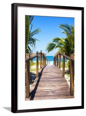 Cuba Fuerte Collection - Way to the Beach II-Philippe Hugonnard-Framed Art Print