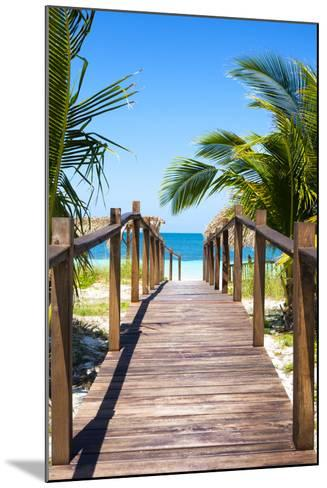 Cuba Fuerte Collection - Way to the Beach II-Philippe Hugonnard-Mounted Photographic Print
