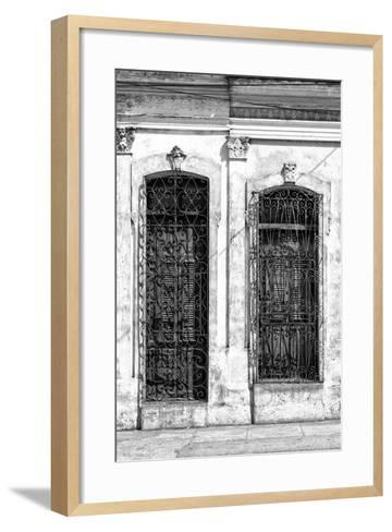 Cuba Fuerte Collection B&W - Cuban Architecture II-Philippe Hugonnard-Framed Art Print
