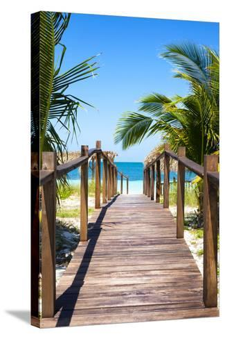 Cuba Fuerte Collection - Way to the Beach II-Philippe Hugonnard-Stretched Canvas Print