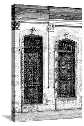 Cuba Fuerte Collection B&W - Cuban Architecture II-Philippe Hugonnard-Stretched Canvas Print
