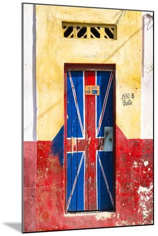 "Cuba Fuerte Collection - ""830 Guille"" English Door-Philippe Hugonnard-Mounted Photographic Print"