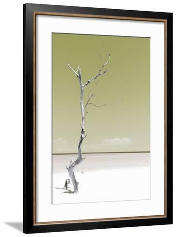 Cuba Fuerte Collection - Solitary Tree - Pastel Lime Green-Philippe Hugonnard-Framed Art Print