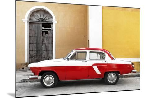 Cuba Fuerte Collection - American Classic Car White and Red-Philippe Hugonnard-Mounted Photographic Print
