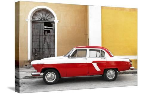Cuba Fuerte Collection - American Classic Car White and Red-Philippe Hugonnard-Stretched Canvas Print