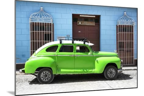 Cuba Fuerte Collection - Green Vintage Car-Philippe Hugonnard-Mounted Photographic Print