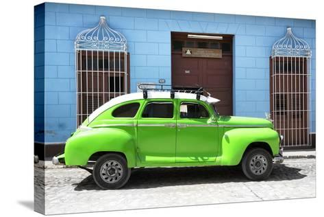 Cuba Fuerte Collection - Green Vintage Car-Philippe Hugonnard-Stretched Canvas Print
