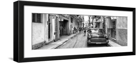 Cuba Fuerte Collection Panoramic BW - Havana Centro II-Philippe Hugonnard-Framed Art Print