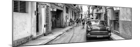 Cuba Fuerte Collection Panoramic BW - Havana Centro II-Philippe Hugonnard-Mounted Photographic Print
