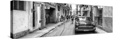 Cuba Fuerte Collection Panoramic BW - Havana Centro II-Philippe Hugonnard-Stretched Canvas Print