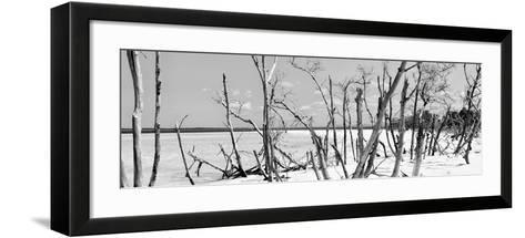 Cuba Fuerte Collection Panoramic BW - Tropical Wild Beach-Philippe Hugonnard-Framed Art Print