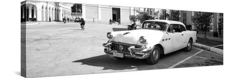 Cuba Fuerte Collection Panoramic BW - Main square of Santa Clara II-Philippe Hugonnard-Stretched Canvas Print