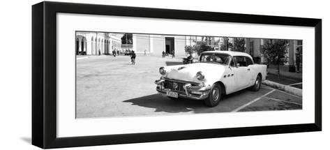 Cuba Fuerte Collection Panoramic BW - Main square of Santa Clara II-Philippe Hugonnard-Framed Art Print