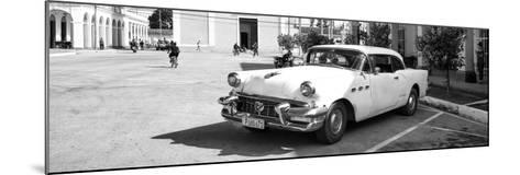 Cuba Fuerte Collection Panoramic BW - Main square of Santa Clara II-Philippe Hugonnard-Mounted Photographic Print