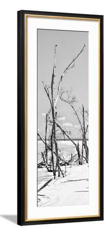 Cuba Fuerte Collection Panoramic BW - Tropical Wild Beach II-Philippe Hugonnard-Framed Art Print
