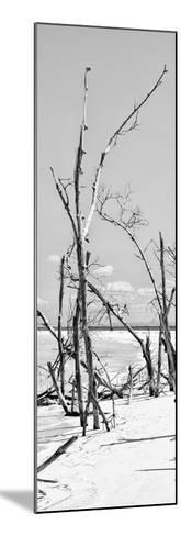 Cuba Fuerte Collection Panoramic BW - Tropical Wild Beach II-Philippe Hugonnard-Mounted Photographic Print