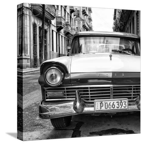Cuba Fuerte Collection SQ BW - Old Ford Car II-Philippe Hugonnard-Stretched Canvas Print
