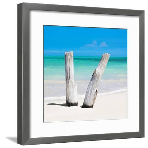 Cuba Fuerte Collection SQ - Clear Blue-Philippe Hugonnard-Framed Art Print