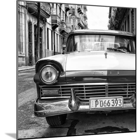Cuba Fuerte Collection SQ BW - Old Ford Car II-Philippe Hugonnard-Mounted Photographic Print