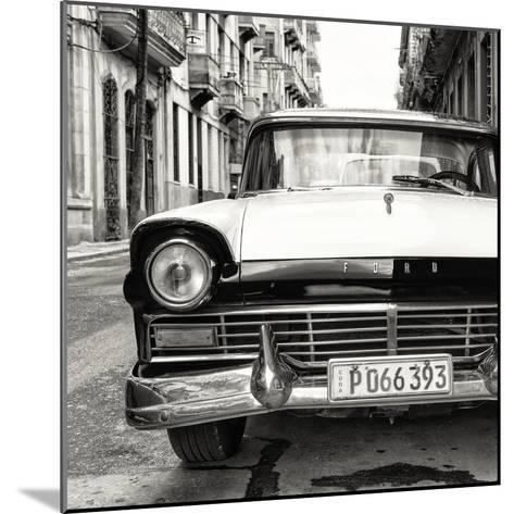 Cuba Fuerte Collection SQ BW - Old Ford Car-Philippe Hugonnard-Mounted Photographic Print