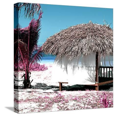 Cuba Fuerte Collection SQ - Pink Paradise Beach Hut-Philippe Hugonnard-Stretched Canvas Print