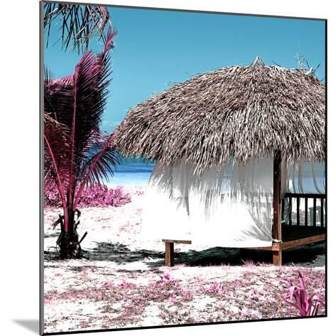 Cuba Fuerte Collection SQ - Pink Paradise Beach Hut-Philippe Hugonnard-Mounted Photographic Print