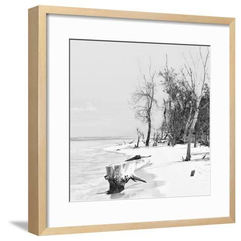 Cuba Fuerte Collection SQ BW - White Sand Beach-Philippe Hugonnard-Framed Art Print