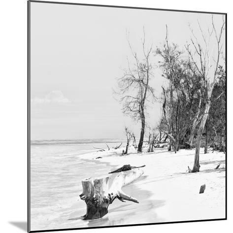 Cuba Fuerte Collection SQ BW - White Sand Beach-Philippe Hugonnard-Mounted Photographic Print