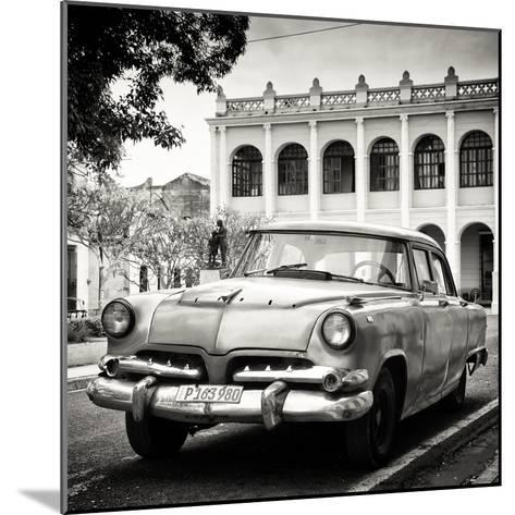 Cuba Fuerte Collection SQ BW - Retro Car in the Street-Philippe Hugonnard-Mounted Photographic Print