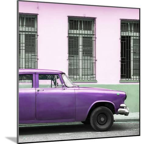 Cuba Fuerte Collection SQ - Close-up of Purple Car-Philippe Hugonnard-Mounted Photographic Print