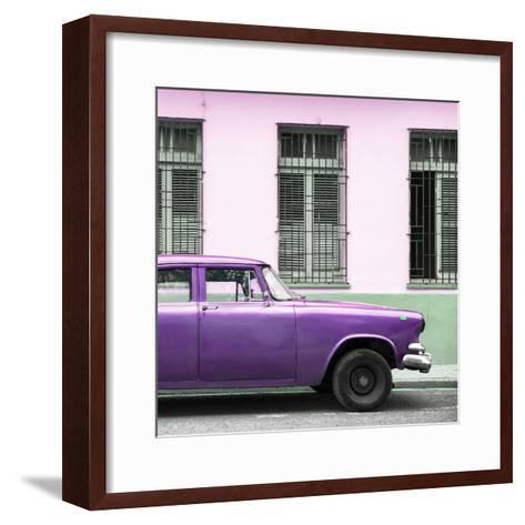 Cuba Fuerte Collection SQ - Close-up of Purple Car-Philippe Hugonnard-Framed Art Print