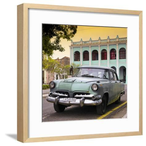 Cuba Fuerte Collection SQ - Cuban Retro Car at Sunset II-Philippe Hugonnard-Framed Art Print