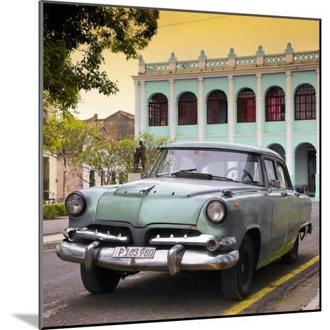 Cuba Fuerte Collection SQ - Cuban Retro Car at Sunset II-Philippe Hugonnard-Mounted Photographic Print