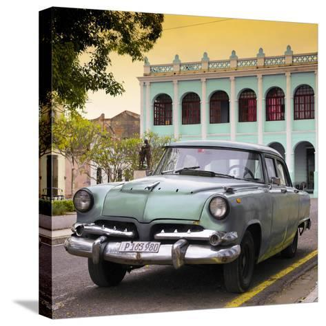 Cuba Fuerte Collection SQ - Cuban Retro Car at Sunset II-Philippe Hugonnard-Stretched Canvas Print