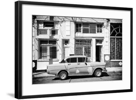 Cuba Fuerte Collection B&W - 3119 Street Havana-Philippe Hugonnard-Framed Art Print