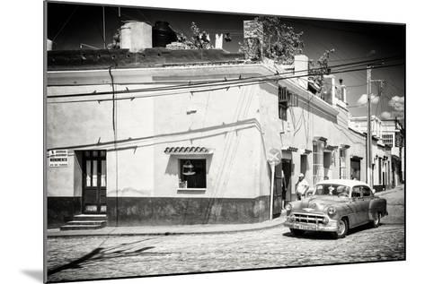 Cuba Fuerte Collection B&W - American Car in Trinidad-Philippe Hugonnard-Mounted Photographic Print