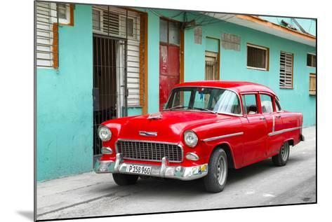 Cuba Fuerte Collection - Beautiful Classic American Red Car-Philippe Hugonnard-Mounted Photographic Print