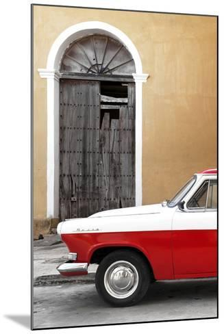 Cuba Fuerte Collection - Close-up of American Classic Car White and Red-Philippe Hugonnard-Mounted Photographic Print