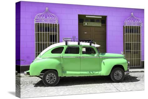 Cuba Fuerte Collection - Green Vintage Car Trinidad-Philippe Hugonnard-Stretched Canvas Print