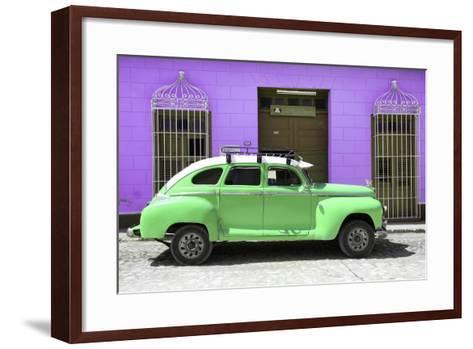Cuba Fuerte Collection - Green Vintage Car Trinidad-Philippe Hugonnard-Framed Art Print