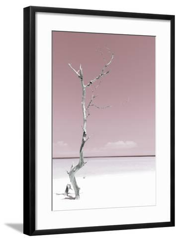 Cuba Fuerte Collection - Solitary Tree - Pastel Red-Philippe Hugonnard-Framed Art Print