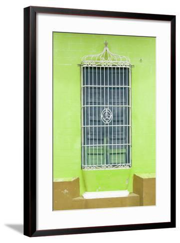Cuba Fuerte Collection - Colorful Cuban Window II-Philippe Hugonnard-Framed Art Print
