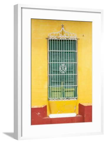 Cuba Fuerte Collection - Colorful Cuban Window-Philippe Hugonnard-Framed Art Print