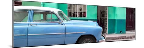 Cuba Fuerte Collection Panoramic - Vintage Blue Car of Havana-Philippe Hugonnard-Mounted Photographic Print