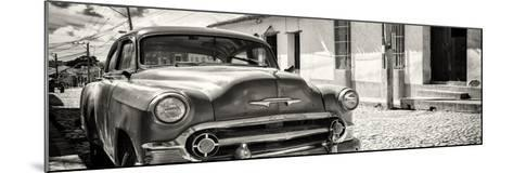 Cuba Fuerte Collection Panoramic BW - Cuban Chevy-Philippe Hugonnard-Mounted Photographic Print